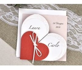 Partecipazione di nozze romantico
