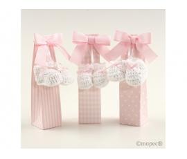 Confezione regalo con scarpette rosa