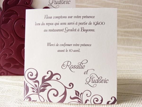 Amato Invito pranzo/cena – FashioNozze.com ZO17