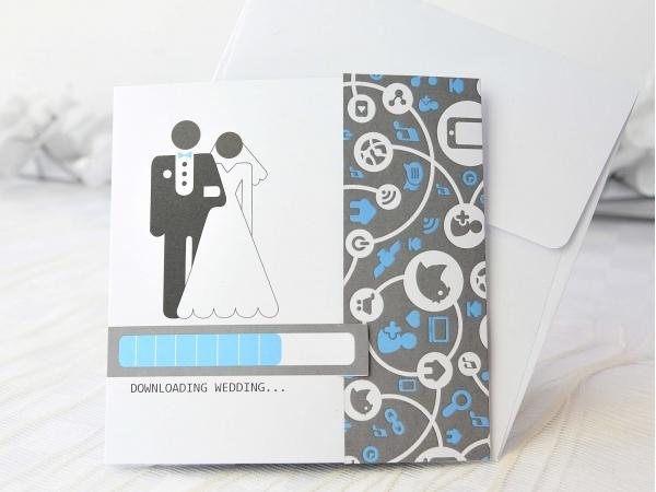 Partecipazione di nozze Downloading Wedding