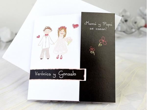 Partecipazioni Matrimonio Mamma E Papa Si Sposano.Partecipazione Di Nozze Mamma E Papa Si Sposano Fashionozze Com