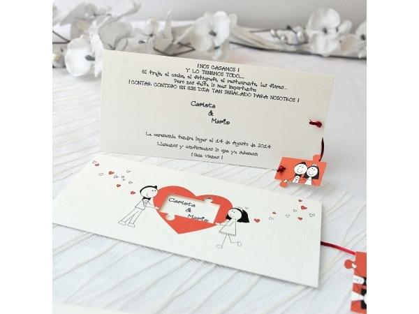 Invito di nozze Puzzle