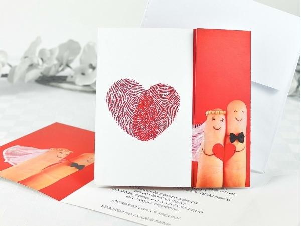 Invito di nozze l'impronta del nostro amore
