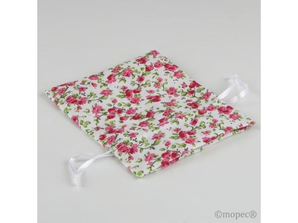 Sacchettino  con fiori rosa
