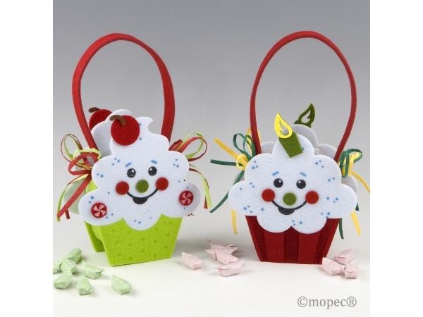 Cestino cupcake sorriso