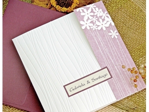 Partecipazione di nozze bicolore