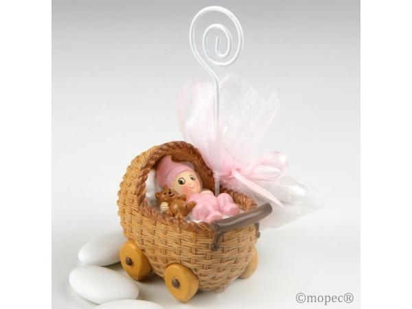 Portafoto bebé rosa