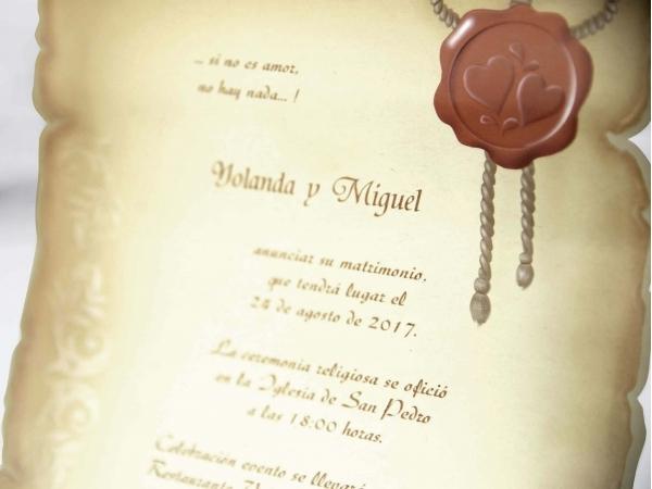 Partecipazioni Matrimonio Pergamena.Partecipazione Di Nozze A Pergamena Fashionozze Com