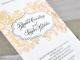 Partecipazione di nozze in Carta Cotone-Letterpress