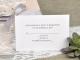 Partecipazione di nozze Laser Cut